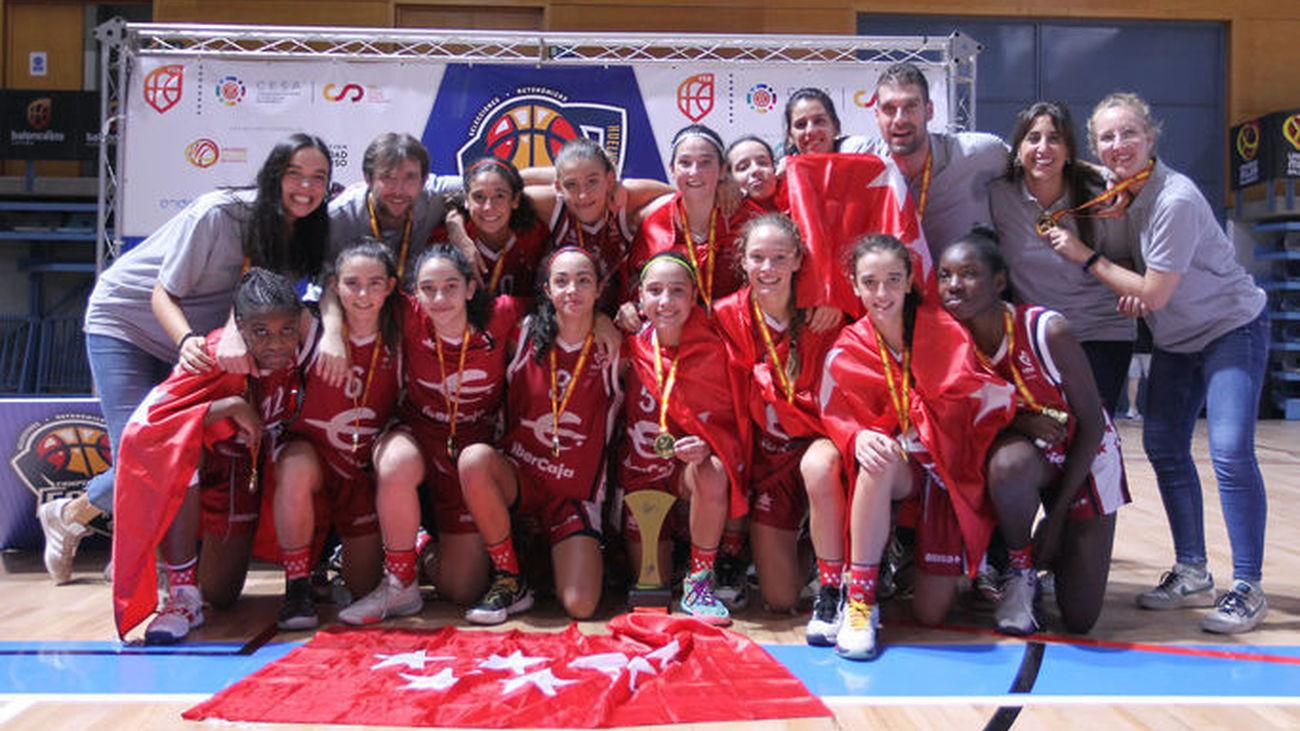 Oro para el infantil femenino madrileño en el Campeonato de España de baloncesto