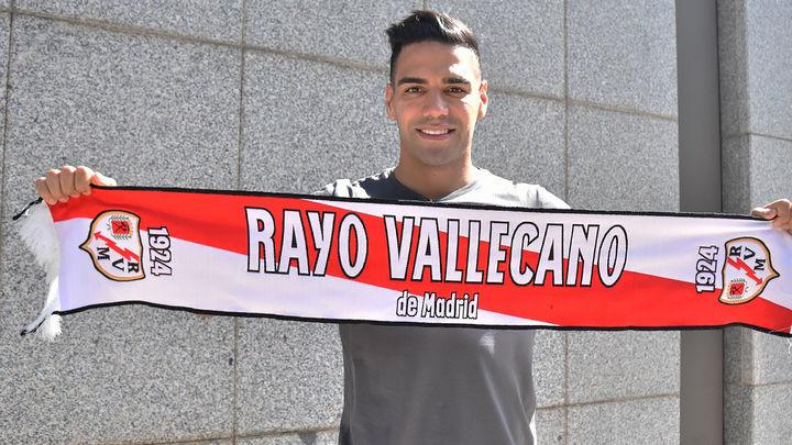 """Falcao llega a Madrid para afrontar su """"desafío"""" en el Rayo Vallecano"""