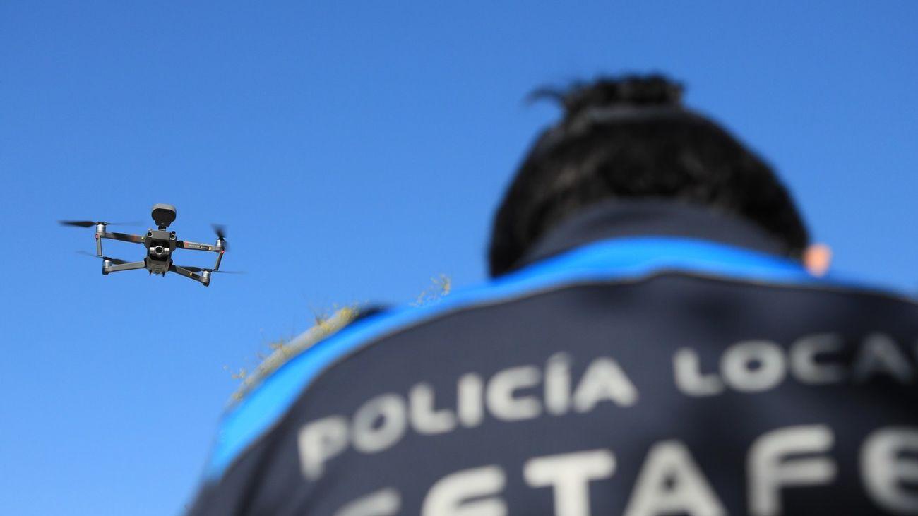 Policía Local de Getafe usa drones