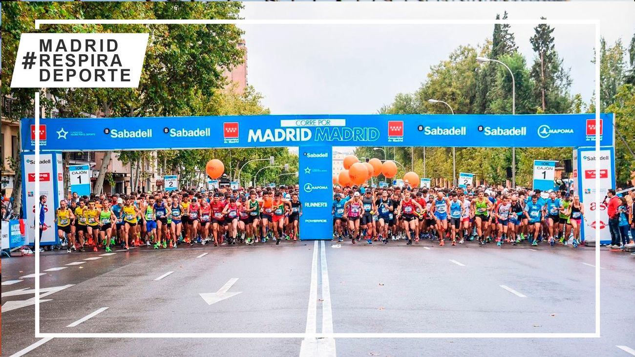 Imagen de una edición anterior a la pandemia de la carrera Madrid corre por Madrid