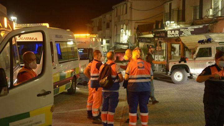 Desalojan Jubrique, en Málaga, por el incendio de Sierra Bermeja