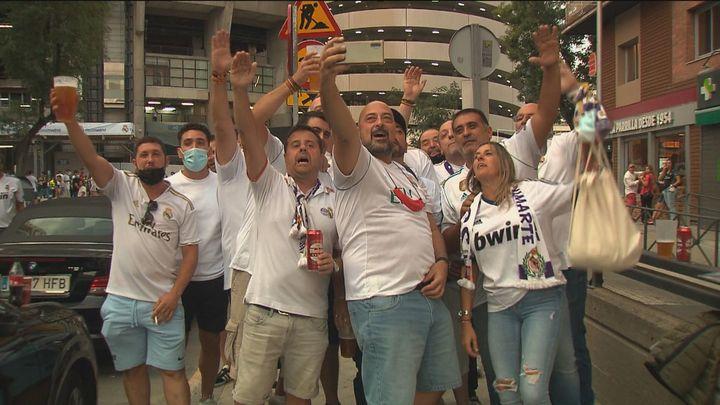 La afición del Real Madrid estrenó el nuevo del Bernabéu