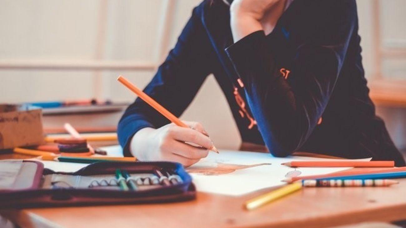 Estudiante en un instituto