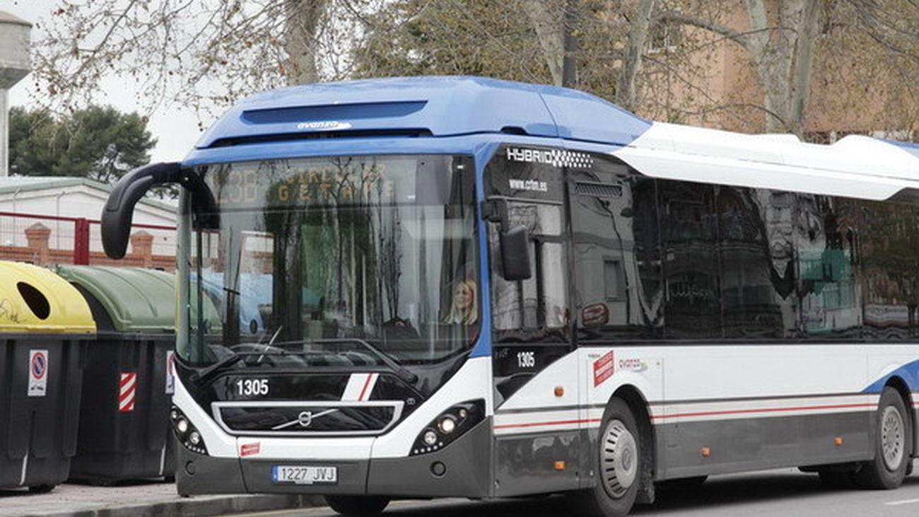 Autobús de la línea Circular L3B de Getafe