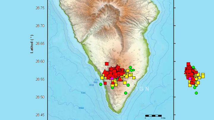 La Palma registra más de un centenar de pequeños terremotos esta noche