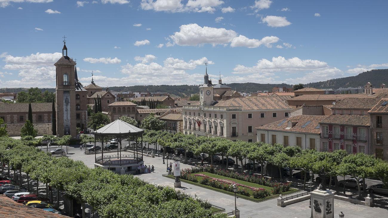 Vista de la Plaza de Cervantes y parte del casco histórico de Alcalá de Henares