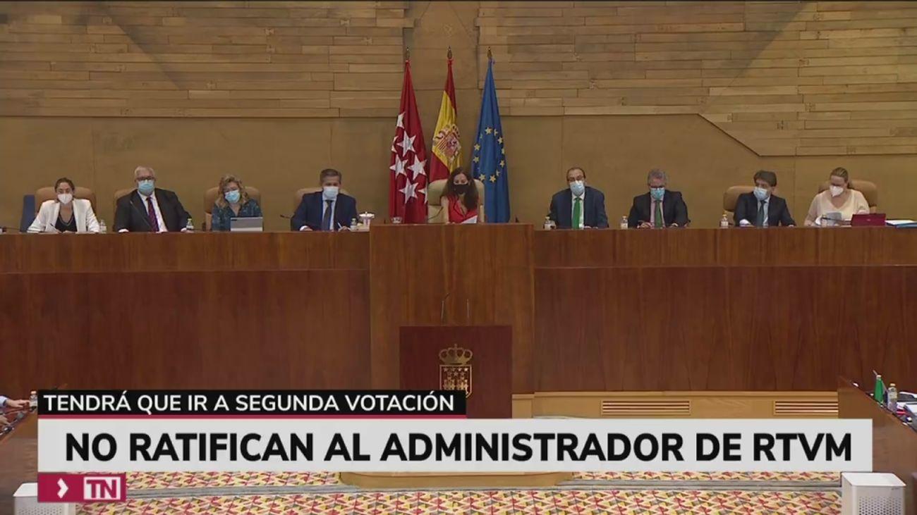 La ratificación del administrador de Telemadrid, pendiente del próximo pleno de la Asamblea