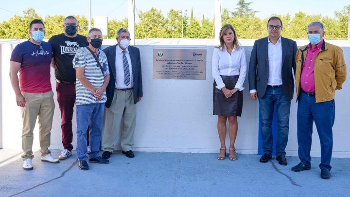 El CD Leganés homenajea a Salustiano Toribio, histórico aficionado del club