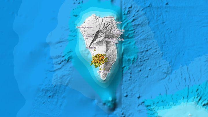 Alerta en la isla de La Palma por una posible erupción volcánica