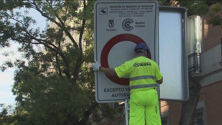 Madrid Central da paso a Madrid 360 y ya comienzan a cambiar las señales