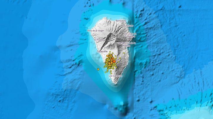 Un terremoto de 4,2 sacude La Palma, la máxima magnitud registrada hasta ahora