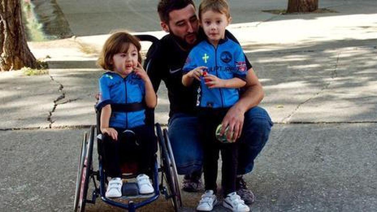 Ocho ciclistas de Leganés, camino de Santiago para ayudar a una niña de 6 años