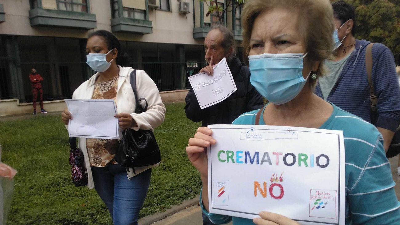 Alegría contenida en Usera por la negativa municipal a autorizar el nuevo crematorio de la M-40