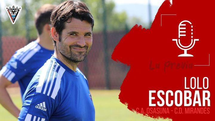 """Lolo Escobar, entrenador del Mirandés: """"esperamos al mejor Leganés"""""""