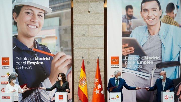 Los cuatro ejes en los que se basa la Estrategia Madrid por el Empleo 2021-23
