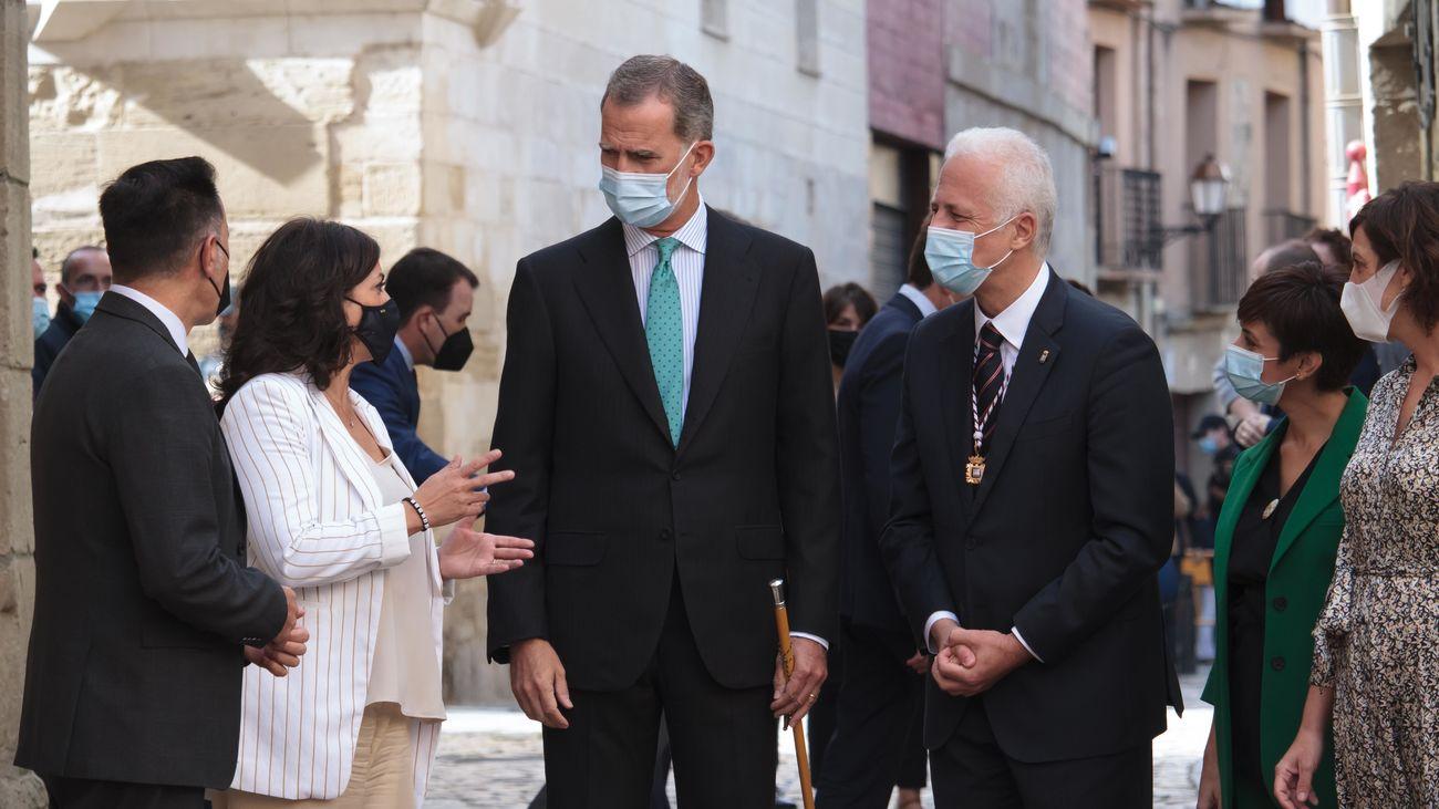 El rey insiste en la importancia de ayudar a los afectados por el volcán de La Palma