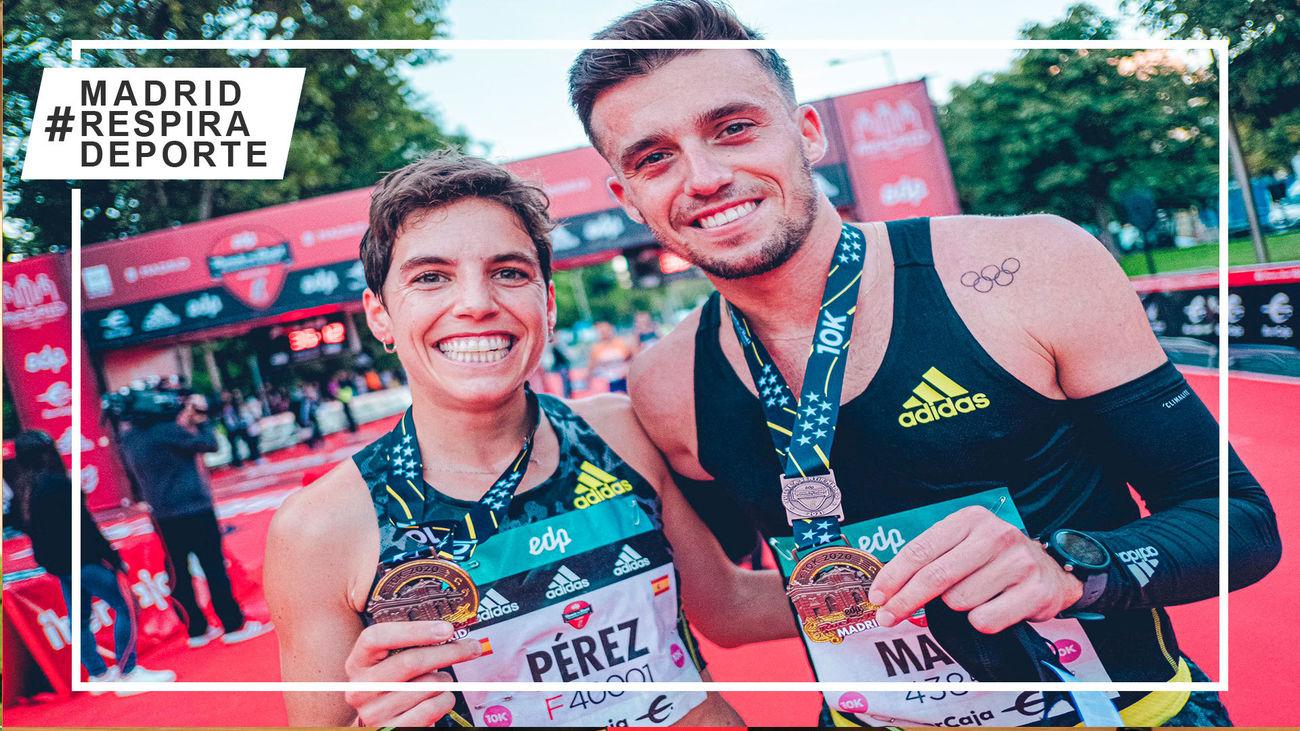 Carlos Mayo y Marta Pérez reinan en los 10K de Madrid