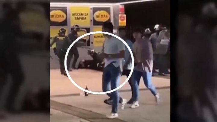 Siete detenidos, cinco de ellos menores, en los incidentes tras un botellón en Villaviciosa de Odón