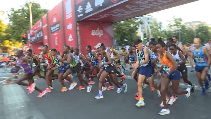 30.000 corredores toman las calles en el Maratón de Madrid