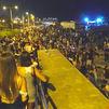 Nuevo macrobotellón en la playa de Barcelona por Las fiestas de La Mercè
