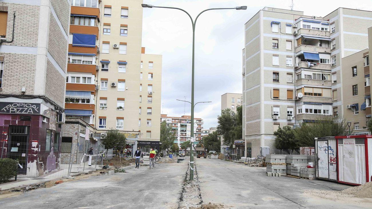 Comienza la remodelación integral de la calle Estocolmo de Móstoles