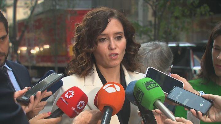 """Ayuso no se ve """"más de ocho años"""" al frente de la Comunidad  de Madrid"""