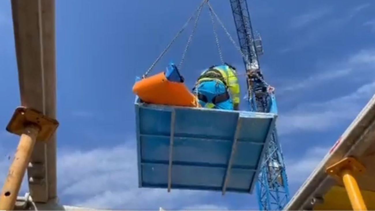 Herido grave un trabajador al caer de un edificio en construcción en Opañel