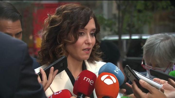 Ayuso ve como un nuevo ataque a Madrid que Sánchez quiera sacar algunas instituciones de la región