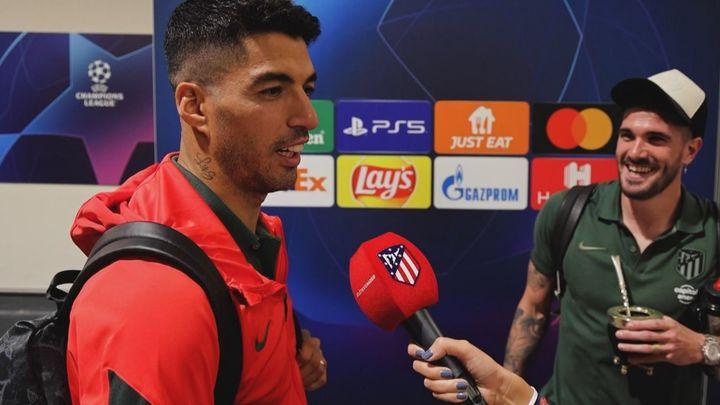 Bromas y alegría entre Luis Suárez y De Paul tras ganar en Milán