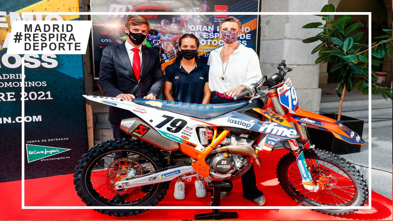 La Comunidad de Madrid presenta el GP de España de Motocross en Arroyomolinos