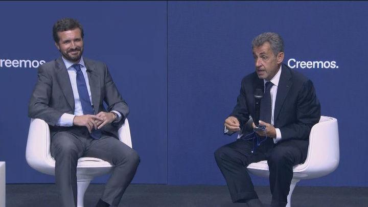 Sarkozy destaca ante Casado la importancia de la unidad de España y de la Corona