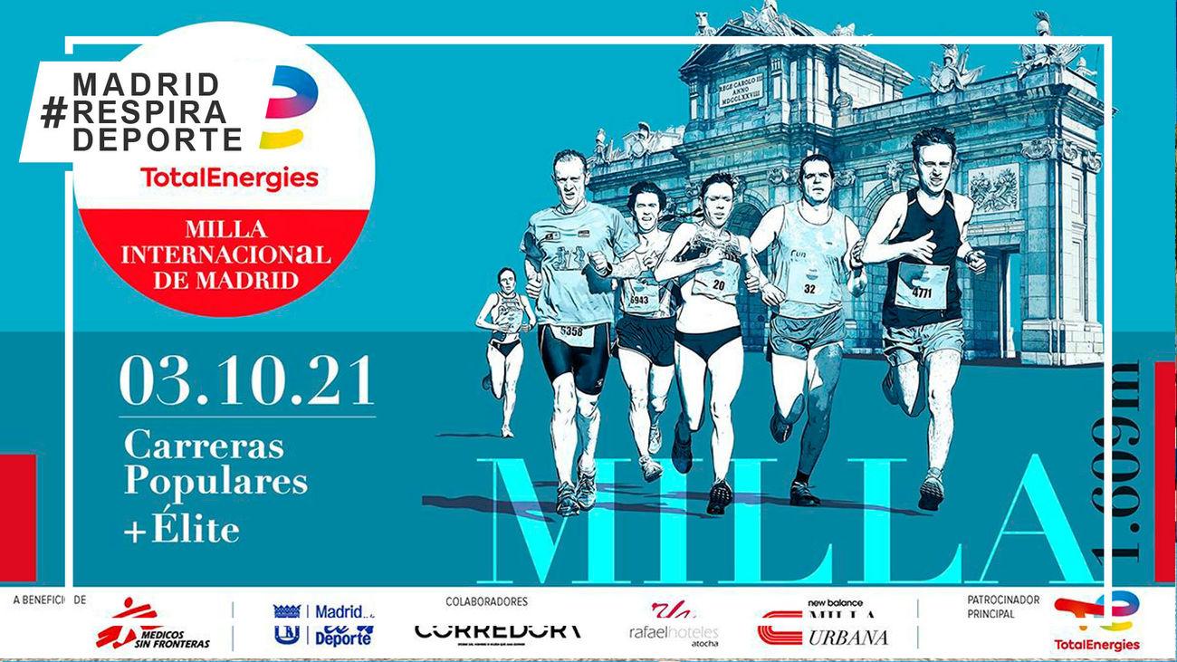 Cerca de 2.000 corredores participarán este domingo en la Milla Internacional de Madrid