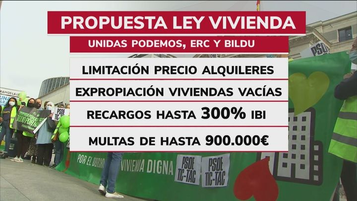 Unidas Podemos y otros socios del Gobierno presentan su propuesta de ley para regular alquileres