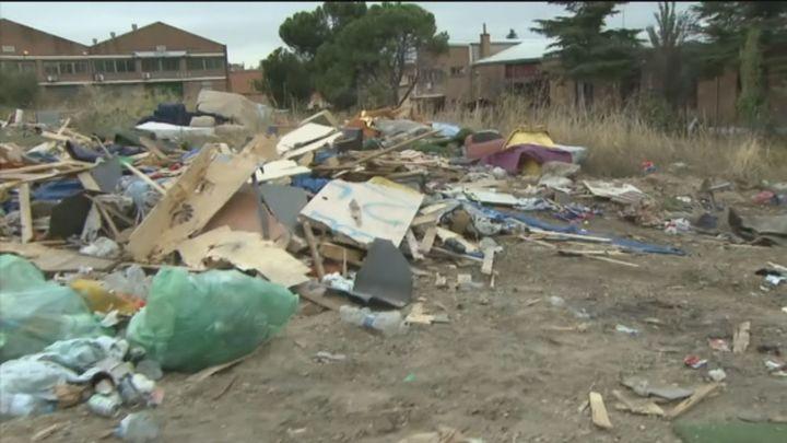Desmantelado el poblado chabolista de San Dalmacio, tres días después de denunciarlo Telemadrid