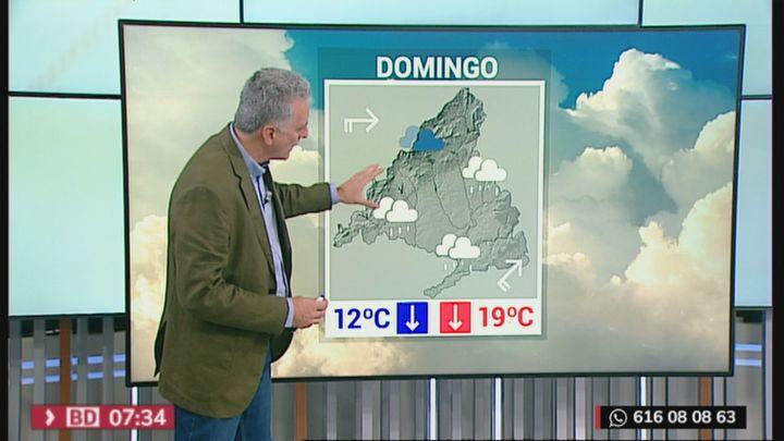 Sol para el sábado pero lluvia y bajada de temperaturas en Madrid para el próximo domingo