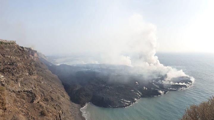 El volcán de La Palma cuenta con dos nuevas coladas