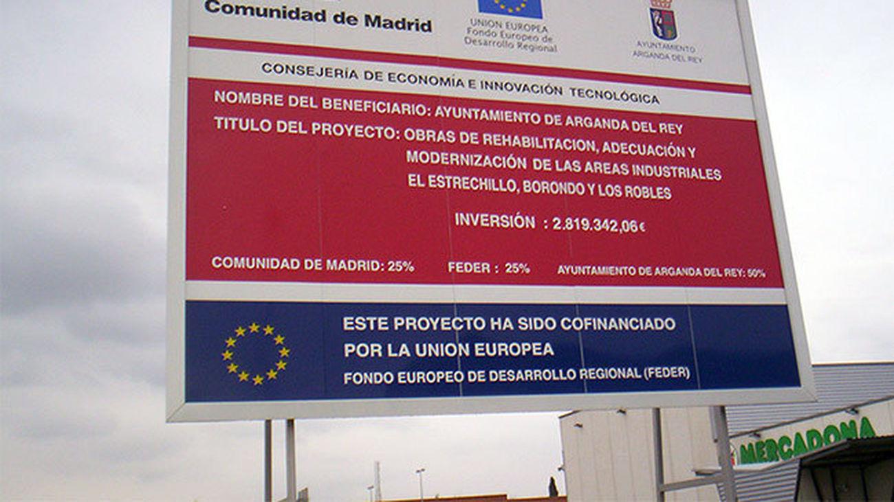 Madrid recibirá 1.476 millones de los fondos de cohesión europeos