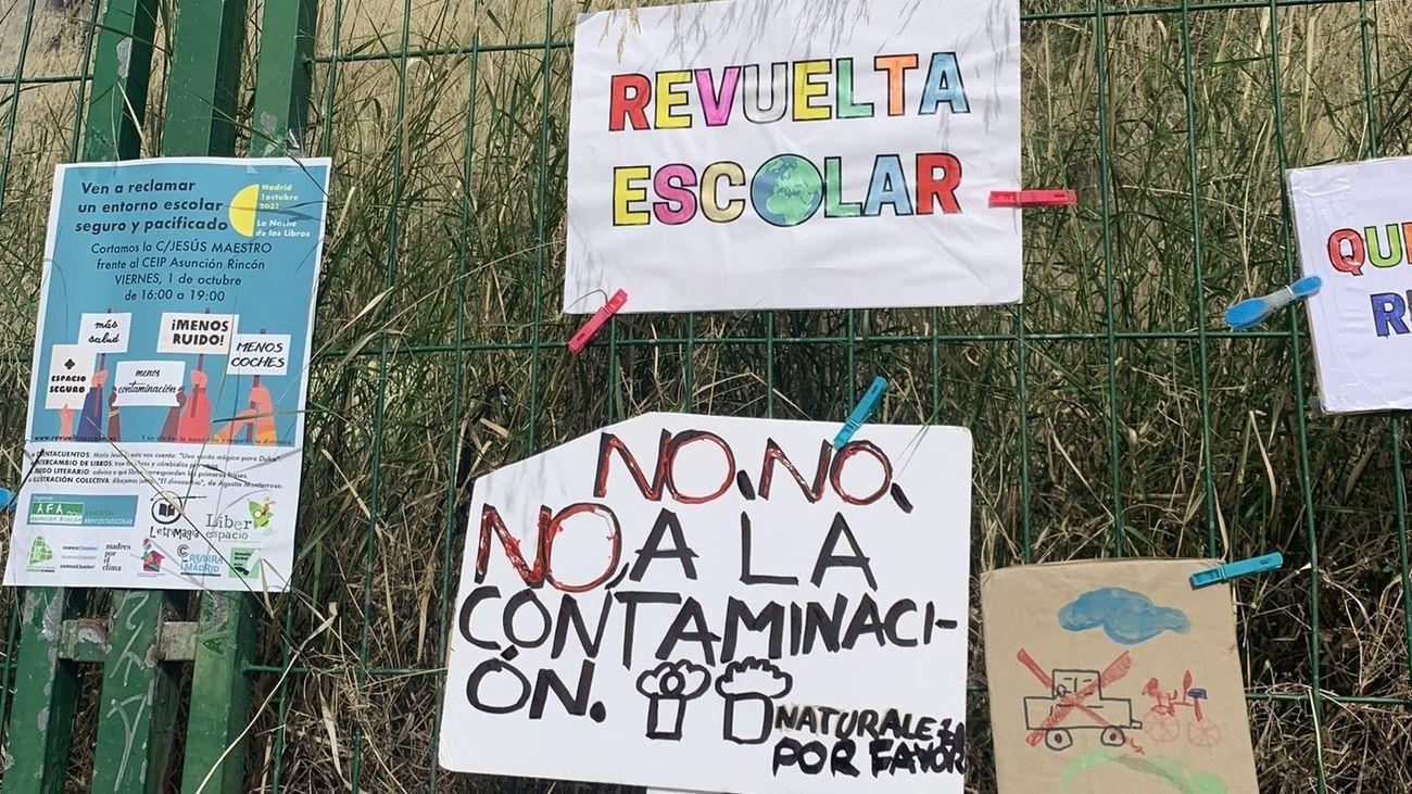 La 'revuelta escolar' vuelve a las calles de Madrid para pedirentornos seguros y  menos contaminación