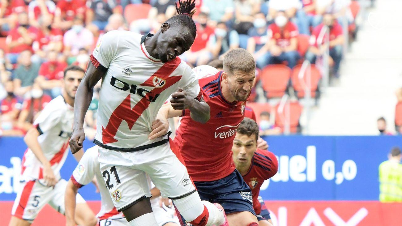 1-0. El Rayo Vallecano cae ante el Osasuna en el tiempo añadido