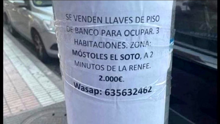 2.000 euros a cambio de un piso okupado en Móstoles
