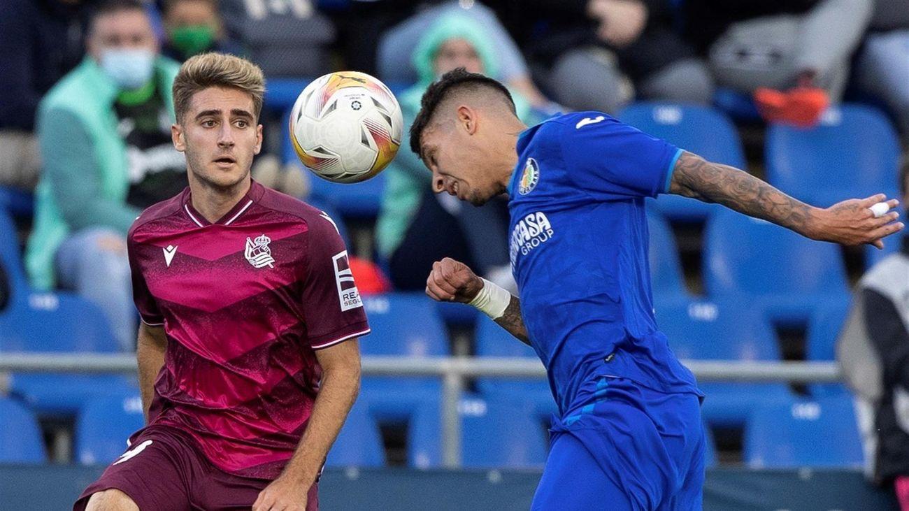 1-1. El Getafe roza la victoria ante la Real Sociedad
