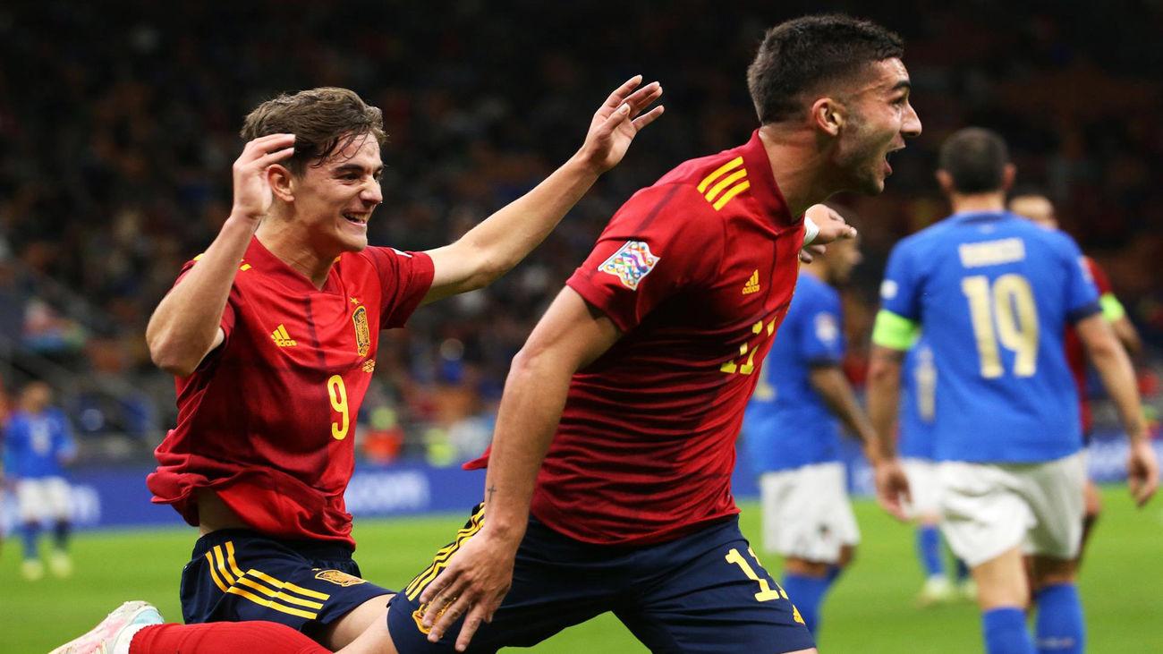 1-2. España, a la final de la Liga de las Naciones con una victoria brillante ante Italia
