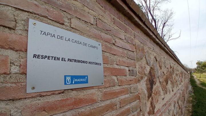 Finalizada la restauración de parte del muro histórico de la Casa de Campo