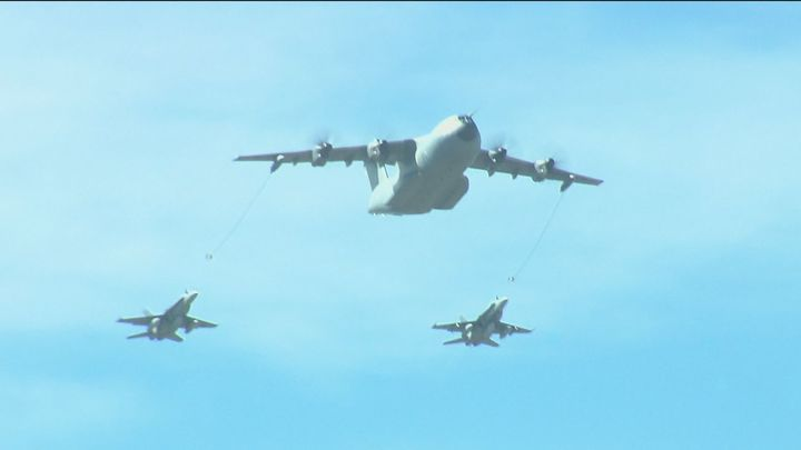 Nuevos y espectaculares ensayos aéreos sobre Madrid de cara al desfile militar del 12 de octubre