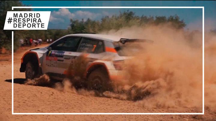 Espectáculo en la tierra en el Rally de Madrid