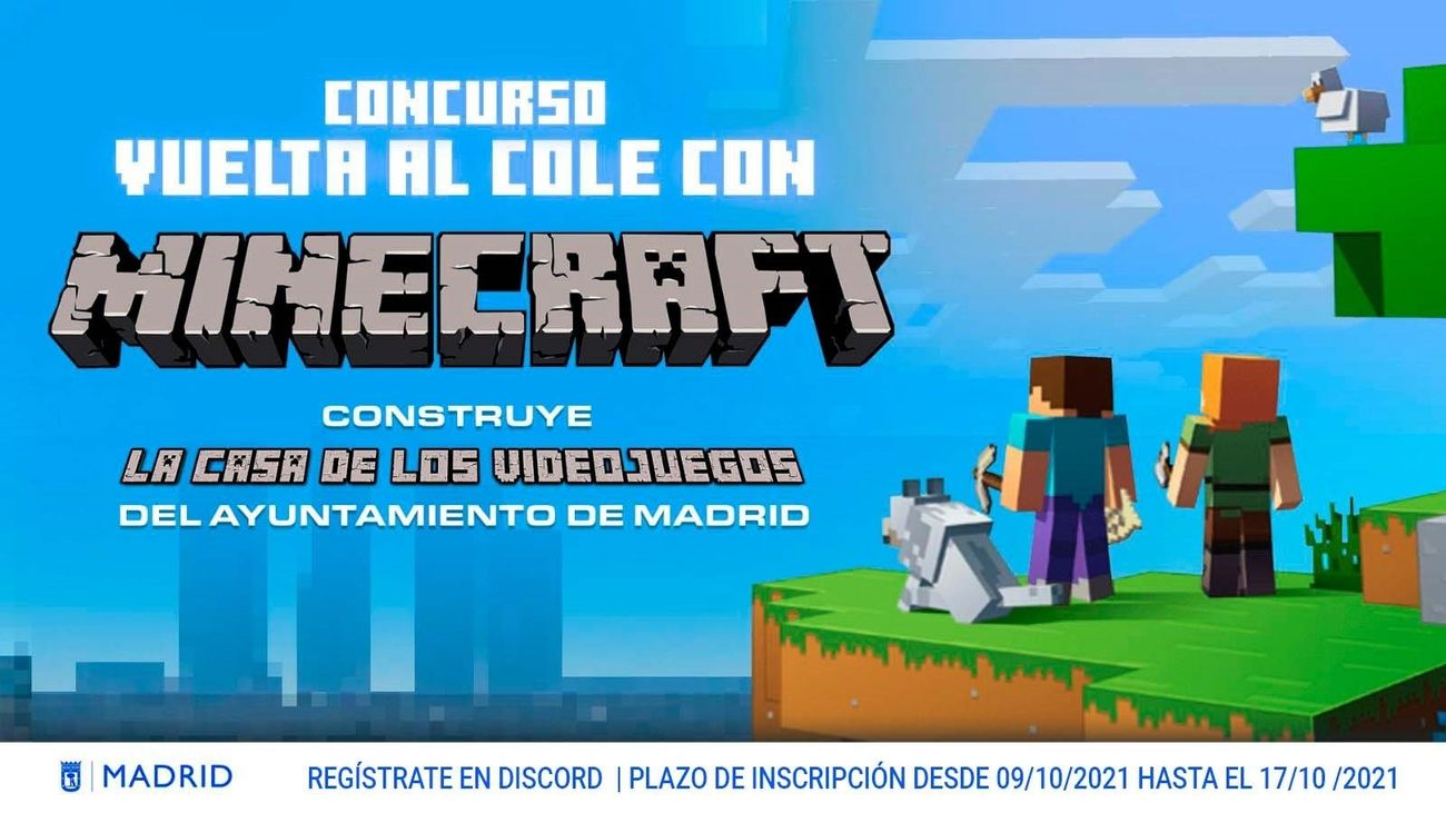 Estudiantes madrileños diseñarán la Casa de los Videojuegos de Madrid a través de Minecraft