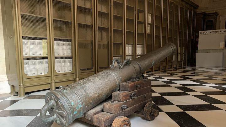 Restauran de cara al público uno de los cañones del galeón Nuestra Señora de Atocha