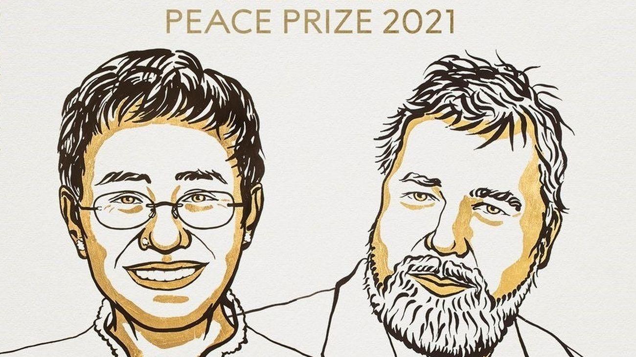 Los periodistas Maria Ressa y Dimitri Muratov, premio Nobel de la Paz