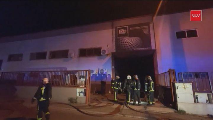 Incendio en una nave industrial de  Ciempozuelos