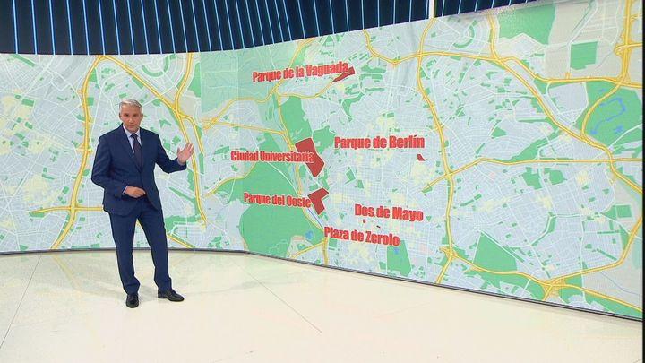 Los puntos de Madrid que más se vigilarán para que no haya macrobotellones en el puente del Pilar